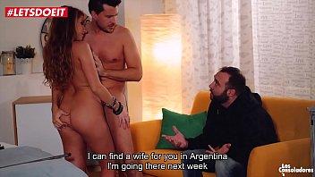 Russian babe Sofi Goldfinger fucks couple in front of her ex husband (Sicilia Model)