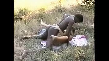 African Bull fucks wife with cuckoldhusband