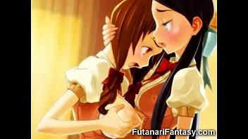 キレイで柔らかそうなおっぱいがエロい巨乳美少女のレズアニメ