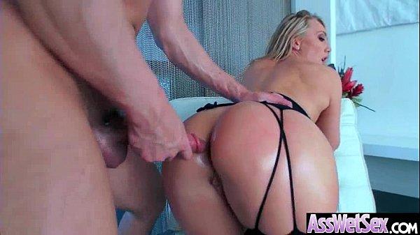 (AJ Applegate) Big Round Oiled Ass Girl Love Hard Anal Intercorse video-04