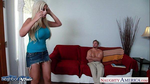 Horny blonde Bridgette B fucking her neighbor