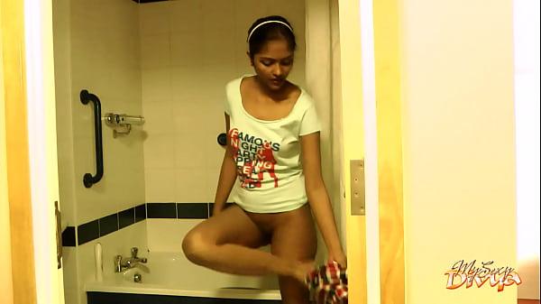 Seductive Dark Skin College Girl Striptease In Shower 1 min 0 sec HD+