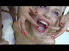 Premium Bukkake - Spanish model Silvana swallows 49 huge mouthful cumshots
