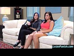 Hot Lesbians (karlee&keisha) Play Hard In Punis...