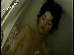 Demet Evgar topless in tub -Turkish Celebrity