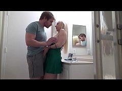 Cheating Mom Fucks Son in Bathroom While Her Hu...