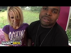 BANGBROS - Rico Strong Buries His Big Black Dick In Alexia Sky&#039_s Gaping Pussy