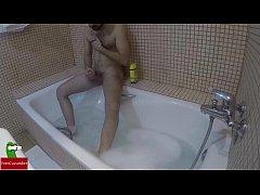 Masturbation in the bathtub with a minion