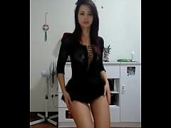 Zorrita tu gfa bailando en vestidito negro