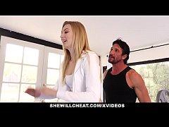SheWillCheat- Blonde Wife Fucks Trainer In Fron...