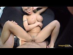 Big tits blonde Barbie Sins pussy ripped