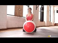 Katie Louise  #8220 Busty Workout #8221    Downblouse Jerk