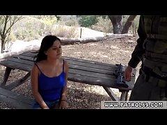 Police fuck Border Patrol agents found this Latina damsel running