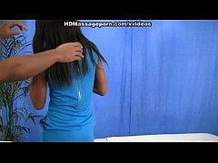 HD massage porn video with brunette