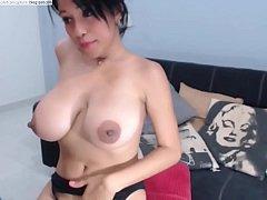 Huge tits Nina on cam - see more at - myhornyca...