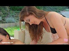 Alisha Rage and Lilu in Summer massage lesbian scene by SapphiX