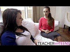 CASSIDY KLEIN MEGAN SAGE HOT TEACHER FUCKS STUD...