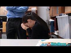 Teenage Shoplifter Fucks Security Guard To Esca...