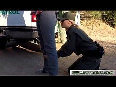 Cop cums inside Amateur Threesome for Border Slut