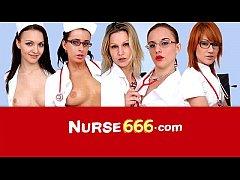 Hirsute cunt Amanda Vamp is sexy nurse