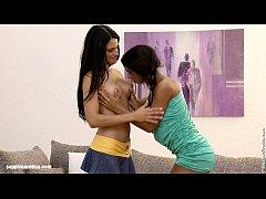 Racy Twosome - by Sapphic Erotica lesbian sex with Niccole Izabella