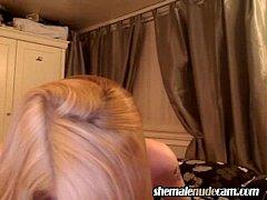 Ellery Sweet TS from Scotland wanking her cock