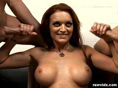 Monica Mayhem gives great handjobs