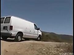 Tracy Trixx in the bang van