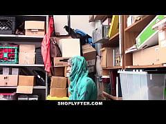 Shoplyfter- Hot Muslim Teen Caught & Harassed