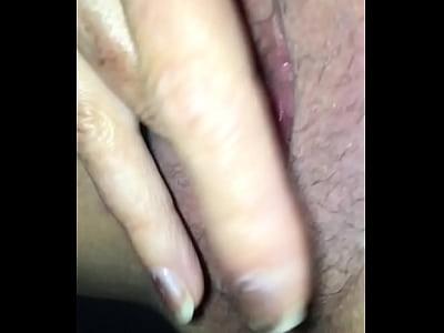 Amateur hot wife masturbating wet pussy in car