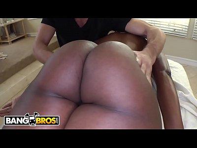BANGBROS - Ebony MILF Nyomi Banxxx Gets Her Black Big Tits Massaged