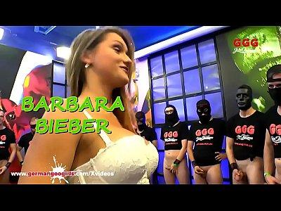 Hot MILF Barbara Bieber pleasing Men in her White Lingerie and big Tits