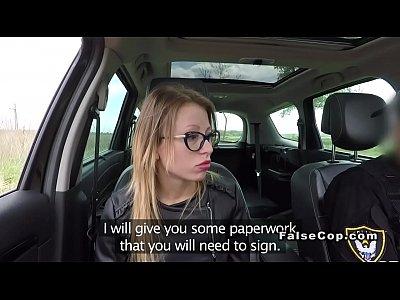 Blonde fucking fake cop to avoid penalty