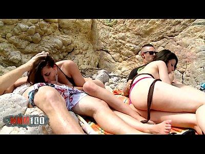 Chubby arab slut Melissa Garcia fucked in the ass at the beach