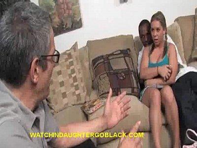 Dad Watch Teen Blonde Suck BBC