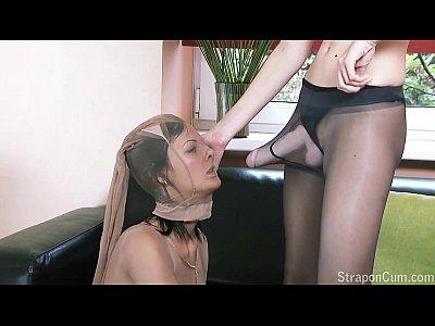 Realistic strap on dildo lesbians female euro