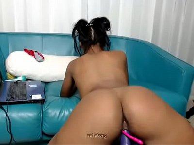 beautiful ebony latina riding sexual ball