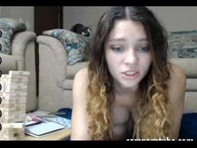 rossa cremoso masturbazione in webcam