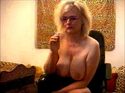 Granny Teacher Porn video: Teasing Boss Granny Porn Star Busty Boob Smoker