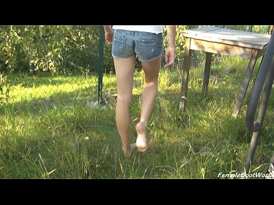 Fetish Boots Heels video: Rebecca Walks Barefoot