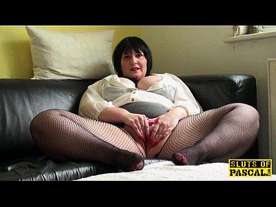 fingering, Mature, Chubby, Close Up, Big Tits, Stockings, Masturbation, Solo, Fetish, Pantyhose, British