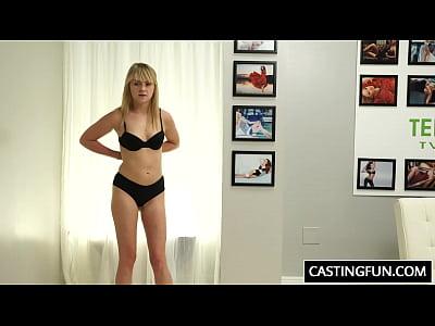 cazzo casting teen lizzie campana