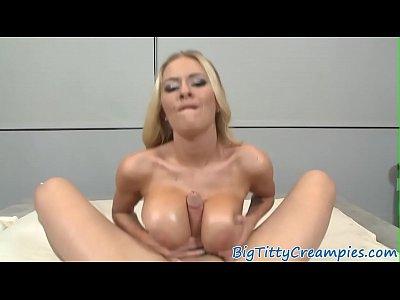 Babe, Blowjob, Titjob, oil, close_up, big_tits, POV, Tits