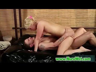 Sexy masseuse gets her pussy banged covered in nuru gel - VanessaCage & MrPete