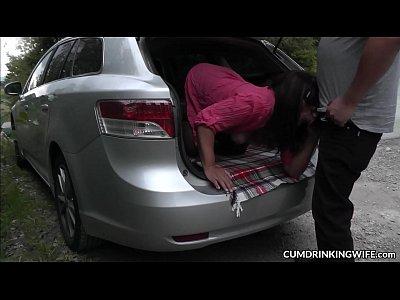 Car sex gangbangs with naughty slutwife