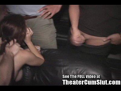 Nasty Anal Cum Slut in a Porn Theater!