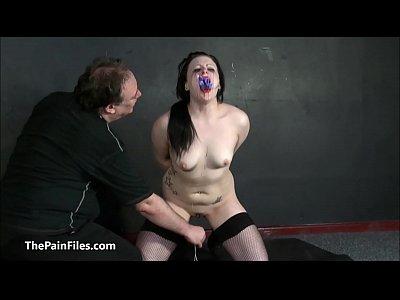 Suspension bondage of submissive Isabel Dean in...