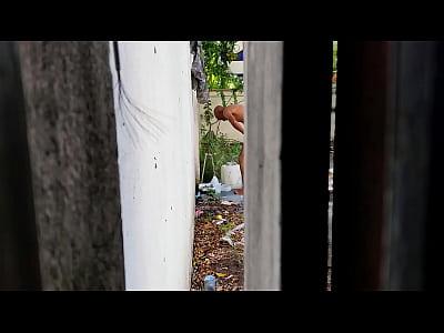 Spy dominican bath espiando dominicano en baño