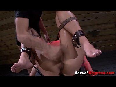 Bdsm slave gets fingered