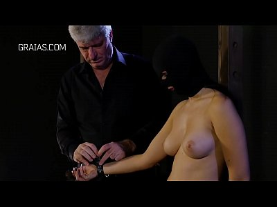 Masked girl stripped